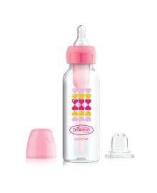 Бутылочка-поильник с узким горлышком Dr. Browns Options+ Розовые сердца 250 мл 2 в 1