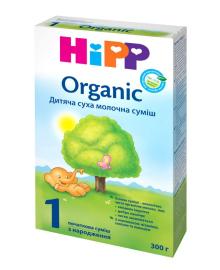 Сухая органическая молочная смесь НіРР Organic 1, 300 г