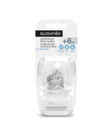 Соска Suavinex Силикон Быстрый поток 6+ мес 300868, 8426420006279