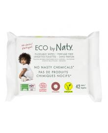 Органические смываемые салфетки Eco by Naty с легким запахом 42 шт ФР-00000076