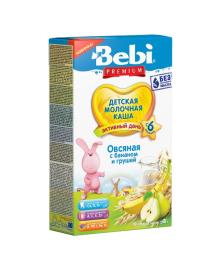 Каша молочная Bebi Premium Овсяная с бананом и грушей 200 г