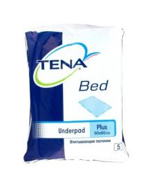 Одноразовые пеленки TENA Bed Plus, 60х60, 5 шт
