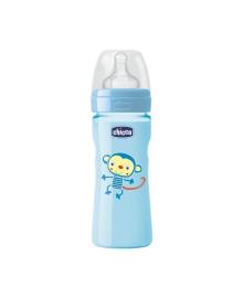 Бутылочка Chicco Wellbeing для мальчика, 330 мл, соска силикон
