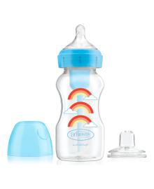 Бутылочка-поильник с широким горлышком Dr. Browns Options+ Голубая радуга 270 мл 2 в 1