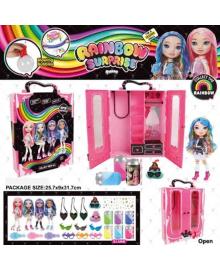 Ігровий набір лялька BELA DOLLS SURPRISE BL1174 (16шт)шафа для одягу серії fashion dolls,кукла17,5см 5254