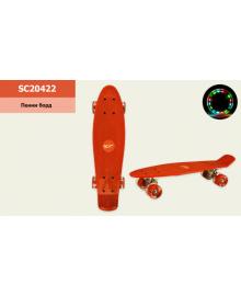 Пенні борд SC20422 (8 шт) 56 * 15 см колеса PU світло, червоний