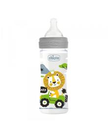 Бутылка пластиковая Well-Being 250мл. соска силиконовая от 2 месяцев средний поток (нейтральная)