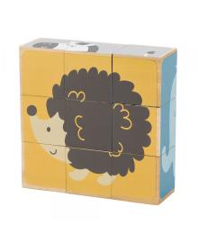 Деревянные кубики-пазл  PolarB Зверята