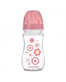 Бутылочка антиколиковая Canpol babies EasyStar Newborn baby Розовая 3+ мес 240 мл