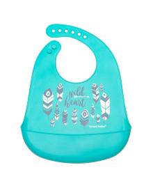 Нагрудник силиконовый Canpol Babies Wild Heart Голубой