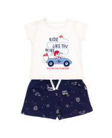 Футболка и шорты Фламинго The Champion Milk/Blue 571-417, 4829960124719