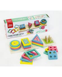 Детская деревянная развивающая игрушка геометрический сортер подарок для мальчика и девочки