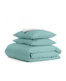 Комплект семейного постельного белья DROP MINT WHITE Drop_Mint_160x2