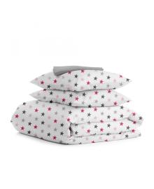 Комплект семейного постельного белья STAR ROSE GREY StarRose_Grey_160x2