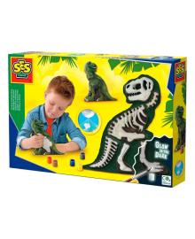 Гипсовая фигурка Ses Creative Ти-Рекс со скелетом