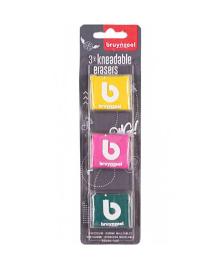 Набор резинок, 3шт, Bruynzeel~#~Набір гумок, 3шт, Bruynzeel~#~Kneadable eraser set, 3pcs, Bruynzeel 8712079411688