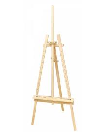Мольберт стационарный №41, Лира, сосна, 71х80х170см., Мак. высота полотна 124см., ROSA Studio~#~Мольберт 4820149892559