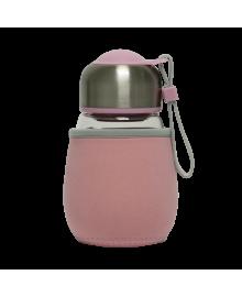 "Заварка ""Jooki"" закаленное стекло, с чехлом розовая 400 мл"