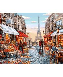 "Картина по номерам. ""Цветочный магазин Парижа"" 40*50см KpN-01-09U"