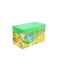 Корзина ящик-пуф для игрушек MR 0362-1 (Зверушки Зоопарк)