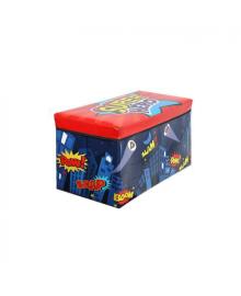 Корзина ящик-пуф для игрушек MR 0362-2 (Ночной Город)