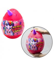 """Набор креативного творчества яйцо """"Unicorn Surprise Box"""" Розовый укр. USB-01-01U(P)"""