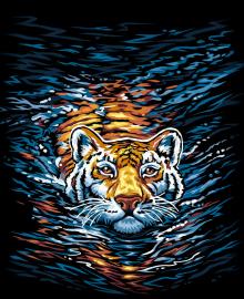 """Картина по номерам. """"Тигр"""" 40*40см KpNe-02-03"""