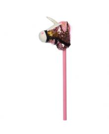 Единорог на палке 75 см MP 2138 (Розовый)