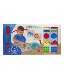 Детская развивающая мозаика с отверткой TLH-102A, 180 деталей