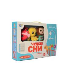 Детская карусель на кроватку D097-101-1 с мягкими игрушками (Морские животные) D097-101-2