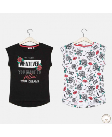 Набор футболок BluKids Bio Cotton Flowers 5720269, 8059301114154