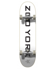 "Скейтборд Zoo York Logo Block Complete Skateboard 7.75"" White"