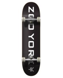 "Скейтборд Zoo York Logo Block Complete Skateboard 8"" Black White"