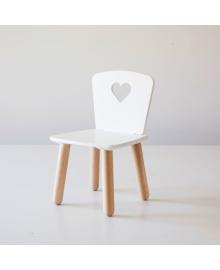 Дитячий стілець Tatoy Heart для дітей 4-7 років Білий