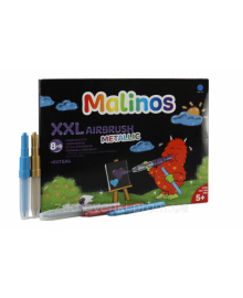 Фломастеры и аэрографы металлик Malinos Metallic XXL 16 (8+8 шт)