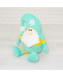 Мягкая игрушка Kidsqo гномик Санта 53см мятно-жёлтый (KD1772)