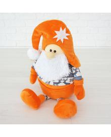 Мягкая игрушка Kidsqo гномик Санта 53см оранжево-серый (KD1771)