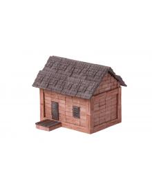 Керамический конструктор Wise Elk из мини-кирпичиков Дом с черепицей (70286)