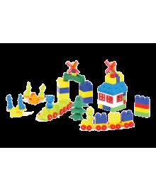 Пластиковый конструктор Colorplast Мастер Блок №5 93дет. (1-027)