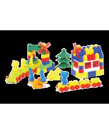 Пластиковый конструктор Colorplast Мастер Блок №8 108дет. (1-030)