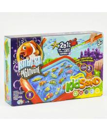 Игра настольная Danko Toys Клевая рыбалка и Кинетический песок KIDSAND (7659)