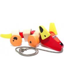 Деревянная игрушка каталка Cubika Такса (13623)