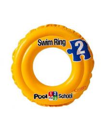 Круг надувной Intex Pool School  2-х камерный 51см (58231)