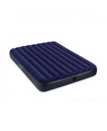 Матрас надувной Intex Велюр 152х203см синий (68759)