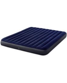 Матрас надувной Intex Велюр 203х183см синий (64755)