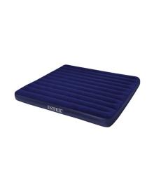 Матрас надувной Intex Велюр 203х183см синий (68755)