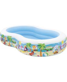 Бассейн детский надувной Intex Райская лагуна 262x160x40 см (56490)
