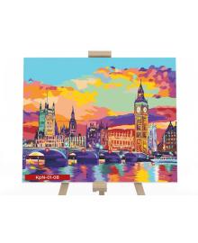 Картина для рисования по номерам Danko Toys Вечерний Лондон 40х50см (KPN-01-08U)