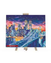 Картина для рисования по номерам Danko Toys Городские огни 40х50см (KPN-01-10U)