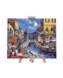Картина для рисования по номерам Danko Toys Ночная Венеция 40х50см (KPN-01-02U)